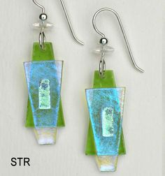 dichroic glass jewelry | Fused Glass Earrings | Fused Glass