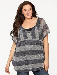 Nwt 60$ Striped Hacci Top By Seven7 Size 14/16 - 22/24