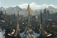 Asgard_Thor The Dark World. Dai disegni di Buscema e Simmonson.