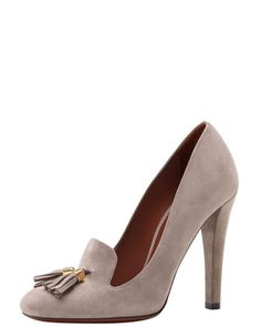 $650 -  Everyone needs a tassle.  Suede Tassel Loafer Pump by Gucci at Bergdorf Goodman.