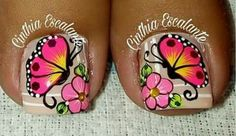 Uñas Uñas Pretty Toe Nails, Cute Toe Nails, Gorgeous Nails, Toe Nail Color, Toe Nail Art, Pedicure Nail Art, Manicure, Feet Nail Design, Toenail Art Designs