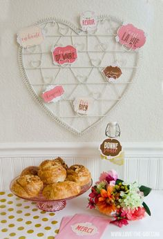Paris Themed Party Decorations & FREE Printables by Love The Day