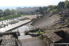 The Odion, the smaller of two Ancient Roman theatres built (side-by-side) in what was then the Roman city of Lugdunum, Lyon