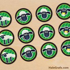 shaun sheep cupcake toppers FREE Printable Shaun the Sheep Cupcake Toppers Templates Printable Free, Free Printables, Shaun The Sheep Cake, Sheep Cupcakes, Sheep Face, Timmy Time, Cupcake Toppers Free, Cute Lamb, Eid Crafts
