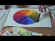 Упражнение по Теории Цвета. Цветное Колесо. Часть 2. - YouTube