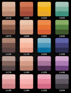 Inglot Cosmetics rainbow eye shadows