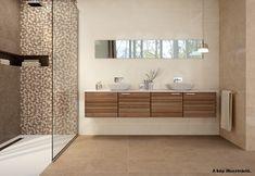 Eternety cubbs decor Tortora 20x50 falburkoló | Akció - Csempebolt Nara, Cube, Tiles, Bathtub, Shower, Mirror, Bathroom, Furniture, Home Decor