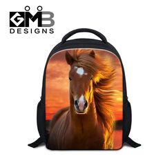 Dispalang little kids backpacks cool horse printing schoolbags for boys high quality new children backpack best gifts mochila Animal Backpacks, Cool Backpacks, Photography Camera, Animal Photography, Animals For Kids, Cute Animals, Kindergarten Books, School Bags For Kids, Small Backpack