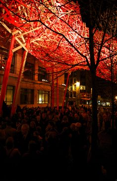 """More of Belgian artist Arne Quinze creation  """"THE SEQUENCE"""" which bridges the communication gap between people and generates movement in the city of Belgium.  """"I want to reconnect people and let them interact with each other like they did in the past on squares. At least people talked to each other then."""""""