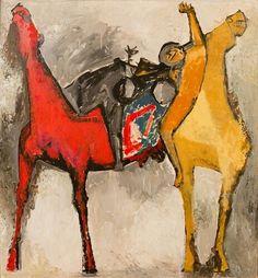 Marino Marini (Italiano, 1901-1980), Battaglia, 1952