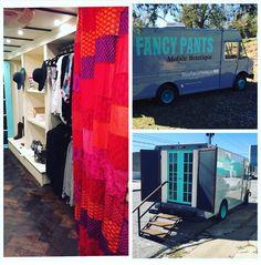 SHOPFANCYPANTS.CO Mobile boutique Fashion truck FedEx truck Boutique