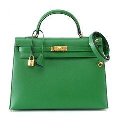 Hermès Bengale Epsom 35cm Kelly Bag - Everyone needs a Hermes Bag - Why not in the trendiest color of the season?  #porteromostwanted