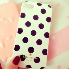 Polka-dotted case from Kate Spade Iphone 6, Iphone 5 Cases, Coque Iphone, Smartphone, Cellphone Case, Girly Phone Cases, Kate Spade Iphone, Cute Cases, Iphone Accessories