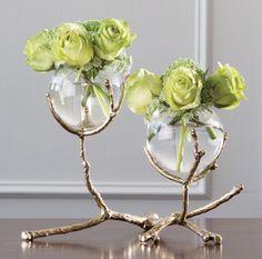 Twig 3 Vase Holder-Nickel global views