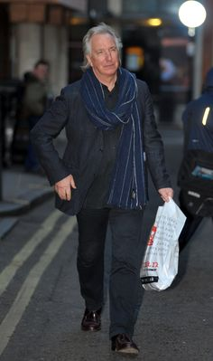 Alan Rickman- This is from a shopping excursion in London, England. February 19, 2010