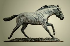 """""""A Horse With No Name"""" by Rod Zullo FNSS, Bronze ~ 23"""" x 43"""""""