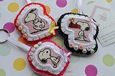felt, fabric cutton n button ---- sweet lil key chain
