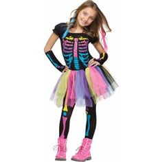 Girls costumes for all occasions. We offer the absolute largest selection of girls costumes anywhere. Buy your girls costumes from the costume authority at Halloween Express. Girls Skeleton Costume, Skeleton Fancy Dress, Little Girl Halloween Costumes, Theme Halloween, Girl Costumes, Halloween Kids, Costumes Kids, Spirit Halloween, Skeleton Girl