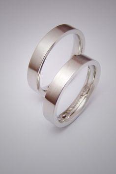 Fehérarany karikagyűrű pár