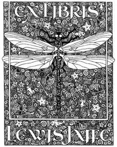 Daniel Mitsui bookplates -- see more of them here: http://danielmitsui.tripod.com/artwork/bookplates.html
