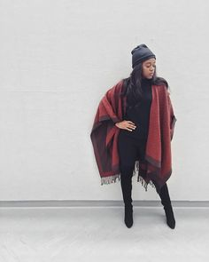 The best ways to style a burgundy blanket scarf
