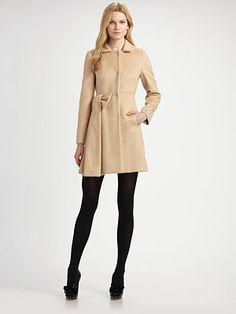 RED Valentino - Mohair Bow Coat - Saks.com