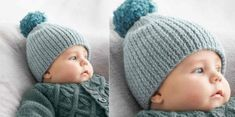 Le bonnet en côtes pour bébé - Knitting And Crocheting Crochet Baby Sweaters, Knitted Hats Kids, Crochet Baby Boots, Crochet Bebe, Crochet For Boys, Kids Hats, Kids Socks, Baby Boy Knitting, Knitting For Kids