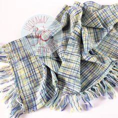 OOAK hand woven scarf   Hand dyed artisan yarn