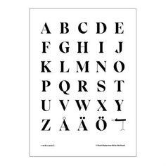 Tyylikäs ja minimalistinen Eksell typografi -juliste kuvaa tunnetun ruotsalaisen…