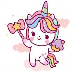 Vivid8 | Freepik Unicorn Drawing, Unicorn Art, Cute Unicorn, Doodles Kawaii, Kawaii Chibi, Unicorn Wallpaper Cute, Unicornios Wallpaper, Sweet Drawings, Cute Animal Drawings Kawaii