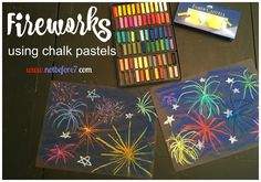 Our family loves to pull out our chalk pastels occasionally and tackle a project from Hodgepodge's Art Lessons.  As soon as I saw the fireworks lesson download (free to subscribers) I knew it…