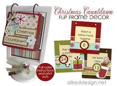 Two DIY Christmas Countdown Advent Calendars- full tutorial