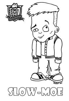 Baby Slow-Moe printable coloring sheet from JadeDragonne at Deviant Art