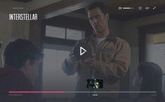 Fullscreen video player