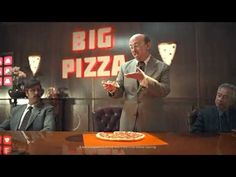 Cheese Crust Pizza, Big Pizza, Funny Commercials, Pepperoni, Funny Ads