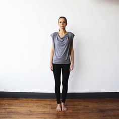 The Evolve Top {Stone Grey} - Encircled Inc. US + Intl - 2  The Versatile top worn many different ways  Great for travel