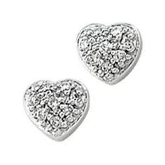 14k White Gold 1/10 Ct Tw Diamond Heart Earrings (Jewelry)  http://www.amazon.com/dp/B001TJ27A2/?tag=iphonreplacem-20  B001TJ27A2