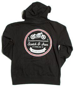 cafe racer motorcycle lightweight hoodie