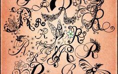 Bellezza - Lettera R in 19 stilizzazioni da collezionare: poster ispirazione per tatuaggi (fabiolagiannini)