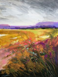 carol engles field, acrylic and pastel