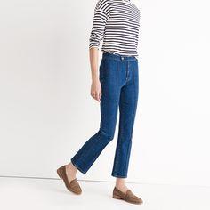 Rivet & Thread Pintuck Demi-Boot Jeans : ex-boyfriend shirt outfit ideas…