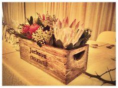 Mixed Protea, Aloe & Succulent Box Arrangement - Main Table