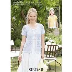 Cardigan in Sirdar Wash 'n' Wear Double Crepe DK (9741) £2.99