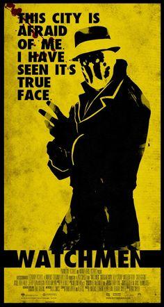 Watchmen - Rorschach Minimalist Poster by on DeviantArt Dc Comics Poster, Arte Dc Comics, Comic Poster, Comic Book Characters, Comic Character, Comic Books Art, Comic Art, Watchmen Rorschach, Rorschach Art
