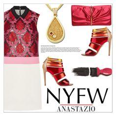 """""""Anastazio-What to Pack: NYFW"""" by anastazio-kotsopoulos ❤ liked on Polyvore featuring Mary Katrantzou, Anastazio and Avon"""