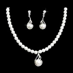 Bridal Wedding Jewelry Set Crystal Pearl Exquisite Necklace Silver Accessoriesforever,http://www.amazon.com/dp/B00GMPSVMG/ref=cm_sw_r_pi_dp_DPz7sb10C979JBTW