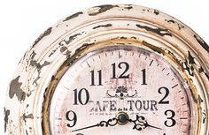 old french european clocks | Vintage European} Romantic French Cafe De La Tour Clock