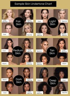 Find Your Skin Undertone to Match Your Hair Color Sample Skin Undertone Chart Hair Color For Warm Skin Tones, Neutral Skin Tone, Which Hair Colour, Colors For Skin Tone, Hair Color Shades, Hair Dye Colors, Hair Color For Morena Skin, Cool Skin Tone, Brown Hair Colors