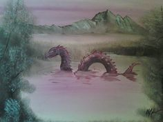 Monster Artwork by Chris McMahon (Monsters in thrift store paintings)