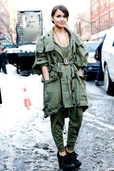 Miroslava Duma Street Style #Fashion #NYFW Fall Winter 2013